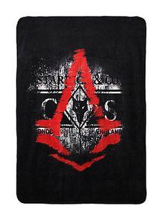 "<p>Soft, warm and cuddly throw with <i>Assassin's Creed Syndicate</i> inspired design.</p>  <ul> <li>50"" x 60""</li> <li>100% polyester</li> <li>Imported</li> </ul>"