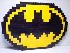 Hey, I found this really awesome Etsy listing at https://www.etsy.com/listing/240520884/lego-mosaic-batman-logo