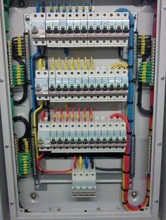 Electrical Panel Wiring, Electrical Circuit Diagram, Electrical Projects, Electrical Installation, Electrical Engineering, Electronics Projects, Distribution Board, Lift Design, Home Network