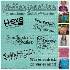 """Stoff & Liebe: Plottersprüche """"klein & frech"""""""