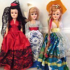 Around The World Dolls Set Of 9 Vintage 1950s 1960s Costumes
