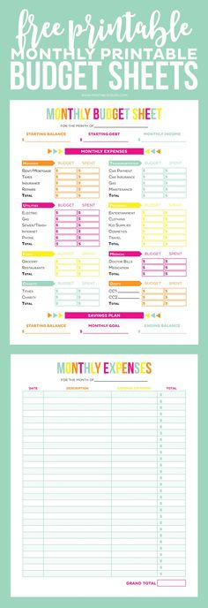Get your finances in order with these Editable Printable Budget Sheets! Includes… Get your finances in order with these Editable Printable Budget Sheets! Includes monthly budget and expense sheets so you can easily keep track of your money! Meal Plan Printable, Printable Budget Sheets, Monthly Budget Printable, Monthly Budget Planner, Monthly Budget Sheet, Monthly Expense Sheet, Free Printables, Budget Planner Worksheet, Budgeting Worksheets
