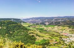Millau Bridge - The Millau Viaduct is an enormous cable-stayed road-bridge that spans the valley of the river Tarn near Millau in southern France. It is the tallest vehicular bridge in the world, with the highest pylon's summit at 343 meters (1,125 ft) — slightly taller than the Eiffel Tower. The speed limit on the bridge was reduced from 130 km/h (81 mph) to 110 km/h (68 mph) because of traffic slowing down, due to tourists taking pictures of the bridge from the vehicles. Shortly after the…