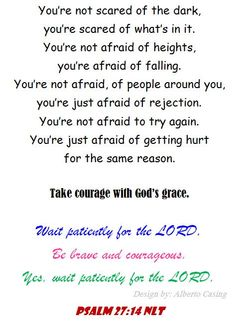 I am courageous with God