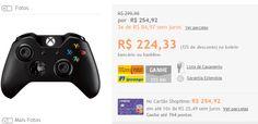 Controle Xbox One sem fio Preto Oficial Microsoft >