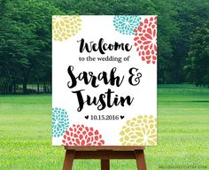 PRINTABLE Large Wedding Welcome Sign  Personalized by HelloLoveCo