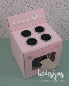 H2 Designs: Cupcake Oven & Pop-Up Kitchen Card
