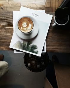 cereal magazine and coffee