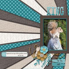 King Of The Hill - Scrapbook.com #scrapbookideas