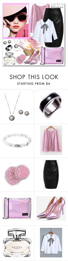 """""""Fall Trend: Necktie Blouse"""" by ane-twist ❤ liked on Polyvore featuring Gucci"""