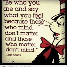 wise words from the 'cat in the hat'