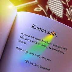 Karma Said. life quotes quotes karma quotes quotes of the day life quotes and sayings quotes to live by Positive Attitude Quotes, Quotes About Attitude, Good Thoughts Quotes, Good Life Quotes, Heart Quotes, Qoutes Of The Day, Karma Quotes Truths, Self Quotes, Reality Quotes
