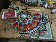 Mosaic Glass, Fused Glass, Stained Glass, Glass Art, Mosaic Ideas, Mosaic Designs, Mosaic Furniture, Mosaic Tables, Indian Interiors