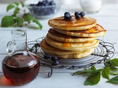 no Pancakes And Waffles, Frisk, Muesli, Dessert Recipes, Desserts, Crepes, Eggs, Lunch, Baking