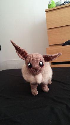 Eevee Pokemon - free crochet pattern by Fiona M.