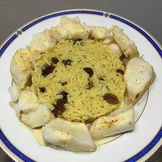 Cabillaud et son riz basmati d'inspiration indienne 8 SP avec 130 g de riz