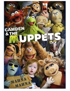 Front of my son's 2nd birthday party invitation...obviously a Muppets themed party!