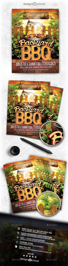 Barbecue Bbq Party Flyer Template  Party Flyer Club Parties And
