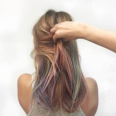 I'm in love! Fluid Hair Painting!