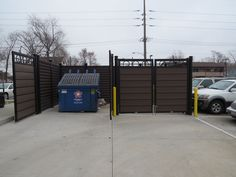 ToughGate dumpster surround by CityScapes