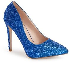 Lauren Lorraine 'Samantha' Crystal Pointy Toe Pump (Women)
