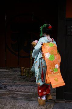 Darari obi of okiya Nishimura (Gion Kobu)