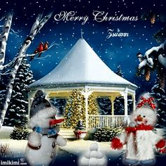 Christmas Scenery, Christmas Pictures, Winter Christmas, Christmas Crafts, Merry Christmas, Gazebo, Gifs, Animation, Holidays