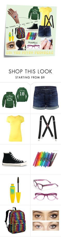 """Putting the Hi in Highschool"" by fogg123 ❤ liked on Polyvore featuring Post-It, 3x1, Majestic Filatures, Levi's, Converse, Paper Mate, Maybelline, Derek Lam, Wildkin and Charlotte Tilbury"