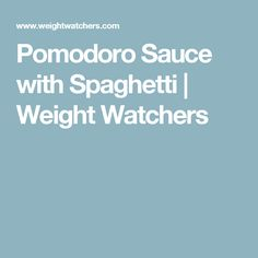 Enjoy a tasty and delicious meal with your loved ones. Learn how to make Pomodoro sauce with spaghetti & see the Smartpoints value of this great recipe. Weight Watchers Shrimp, Weight Watchers Meals, Linguine Recipes, Spaghetti Recipes, How To Make Shrimp, Great Recipes, Favorite Recipes, Light Snacks, Quick Weeknight Dinners