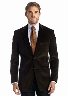 Saddlebred® Classic Fit Olive Corduroy Sport Coat