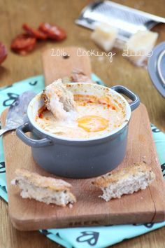 oeuf cocotte parmesan et chorizo Breakfast And Brunch, Breakfast Recipes, Cocotte Recipe, Ways To Cook Eggs, Bistro Food, Cuisine Diverse, Salty Foods, Chorizo, Egg Recipes