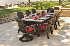 Berlin Gardens Orchid Outdoor Poly Dining Set. Made in the USA. Posted via www.BuyDirectuSA.com