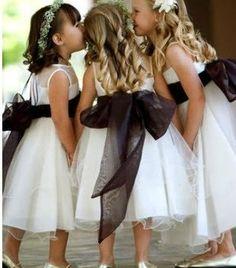 Black & White Flower Girl Dresses