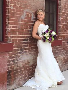 Happy #weddingwednesday to our beautiful #maggiesotterobride and our very own bridal consultant Ashlee K. (Sorry we are a week late! We had some technical issues last week)!  The choices surrounding your wedding day are endless! It's one of the only times in your life that you get to design and