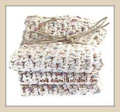 Eco Friendly Cotton Dishcloths Crochet Washcloths Sand Beige Cottage Shabby Chic Handmade Gift Set of 3 by MoomettesCrochet on Etsy https://www.etsy.com/listing/154752752/eco-friendly-cotton-dishcloths-crochet