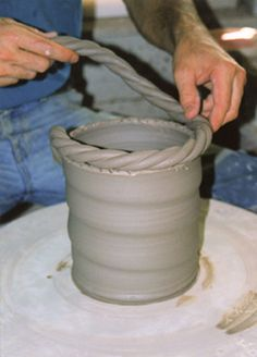 Rope-top Bucket - Ceramic Arts Daily