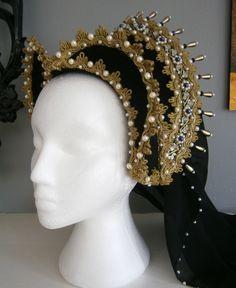 Renaissance French Hood, Tudor, Anne Boleyn, LARP by CadwaladrCostumes on Etsy