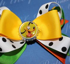 Shop for disney on Etsy, the place to express your creativity through the buying and selling of handmade and vintage goods. Pluto Disney, Disney Mickey, Bow Accessories, Hairbows, Bands, Trending Outfits, Dog, Unique Jewelry, Handmade Gifts