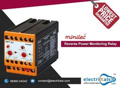 #Relay - #Minilec RPT D2 3 Ph 3 #Wire #DINRailMounted Reverse Power Monitoring Relay Online @ Electrikals.com