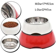 Stainless Steel Bowl for Dog's Feeding. cat recipes monty the cat cats things cat base awesome cats cat and dog lost cat cat craft funny kitty cats cat tutorial guilty dogs laughing cat cat stuff furniture cat home ideas sheep cat Gifts For Pet Lovers, Pet Gifts, Dog Lovers, Stainless Steel Dog Bowls, Cheap Pets, Dog Feeder, Cat Crafts, Pet Bowls, Cat Recipes