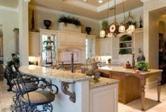 French country kitchen, my favorite style for a kitchen