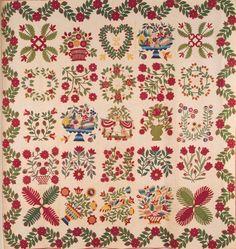 Baltimore Album Quilt, 1849. Maryland.