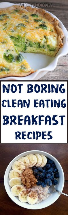 Healthy Clean Eating Breakfast Recipes and Ideas On The Go For Weight Loss