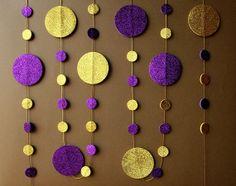 Gold Purple garland gold purple glitter by TransparentEsDecor, $16.00