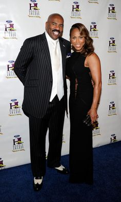 Steve Harvey Photos - Host Steve Harvey (L) and wife Marjorie Harvey arrive at the ninth annual Ford Hoodie Awards at the Mandalay Bay Events Center August 2011 in Las Vegas, Nevada. - Annual Ford Hoodie Awards Hosted By Steve Harvey - Red Carpet Famous Couples, Black Hollywood, Steve Harvey, Steve, Celebrity Style, African American Couples, Celebrity Couples, Famous Celebrities, Black Beauties