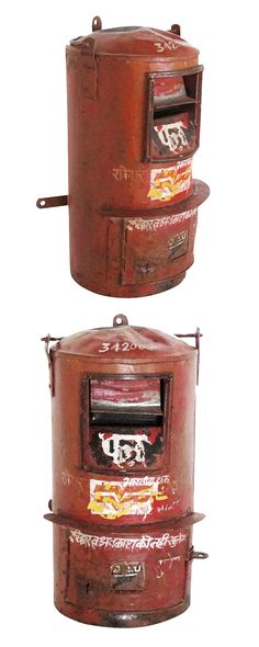 Industrialize your home to the letter. Sourced from India, this vintage post box is a bright home accent that makes a letter-worthy statement all its…
