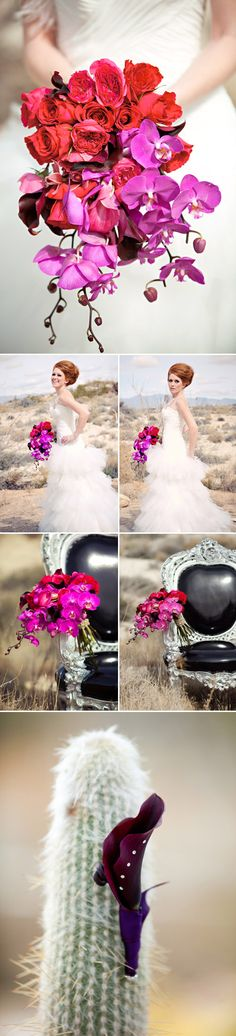 Modern Bridal Bouquets from Bella Signature Design ~ the orchids are simply GORGEOUS!