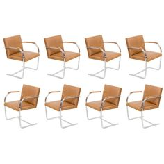 BRNO Chairs by Mies Van Der Rohe Knoll (10 available) | From a unique collection of antique and modern armchairs at http://www.1stdibs.com/furniture/seating/armchairs/