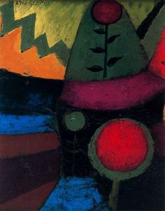 Paul Klee.   The use of color and shape is so wonderful.   Kerry