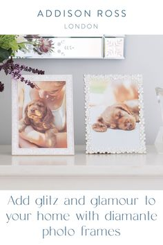 When styling a neutral interior a diamanté photo frame is the sophisticated choice. Choose the silver frames for a gallery wall in a hallway, or smarten up a shelf or sideboard. Check out our latest spring interior collection. #addisonross #homeaccessories #luxuryframes #diamanteframes #classicbritishdesign Gift Boxes Uk, Silver Frames, Frame It, Free Prints, Color Trends, Colorful Rugs, Sideboard, Make It Simple, Shelf